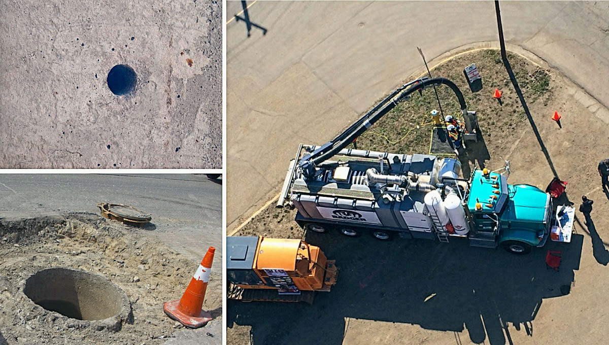 Hydrovac Applications Utility Pole Holes Gt Badger
